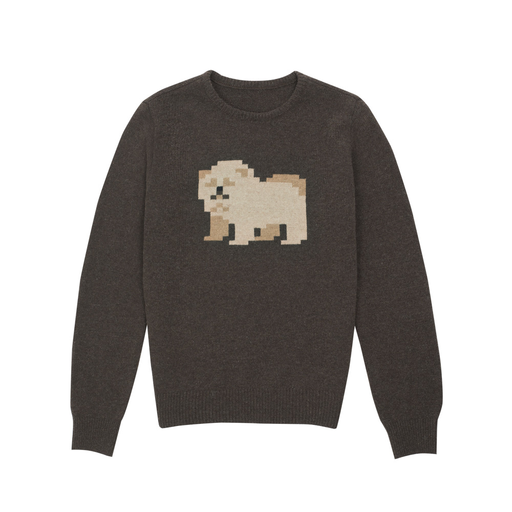 lambswool sweater chowchow (70% OFF)