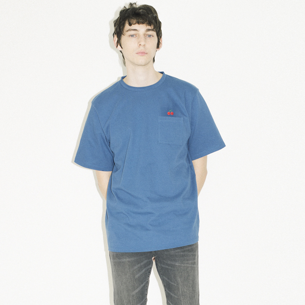 SML pocket T cherry (EVENT 50% OFF)